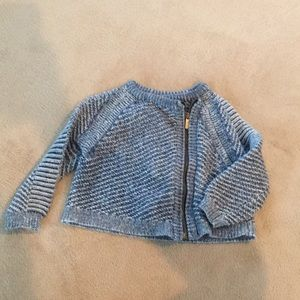 Stylish sweater asymmetrical zipper